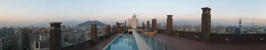 Trani Hotel Providencia: Terraza