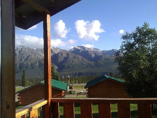 Sheep Mountain Lodge: the view from the veranda of our cabin