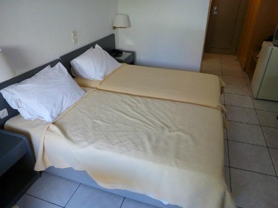 Bitzaro Palace Hotel: Two single beds pushed together