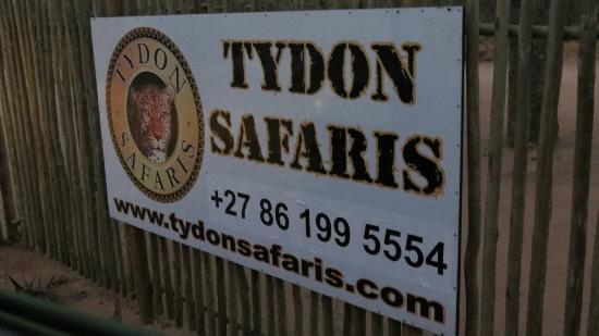 Tydon Safari Camp: Tydon sign