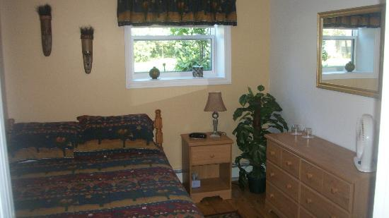 Nestle In B&B: # 1 bedroom in B&B area Dbl bed with dresser,alarm clock radio, sitting chair, closet with towel