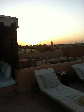 Riad Chergui: Dachterrasse