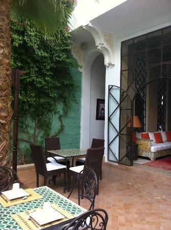 Riad Chergui: Innenhof
