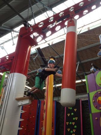 Clip 'n Climb Exeter: leap of faith!