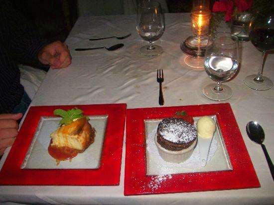 Point Grace: dessert at restaurant