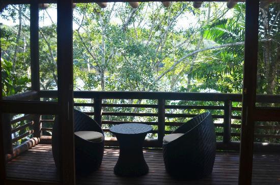 La Selva Amazon Ecolodge : Terrasse de la chambre