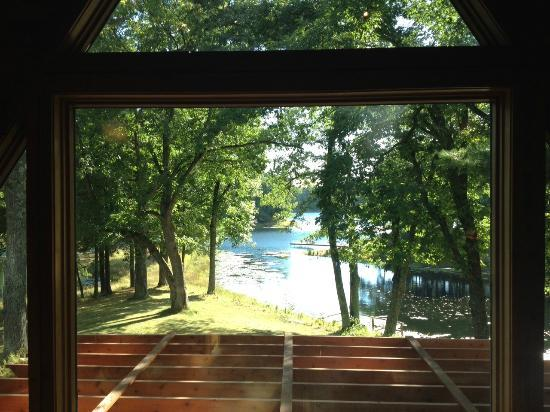 Canoe Bay: View from the library loft