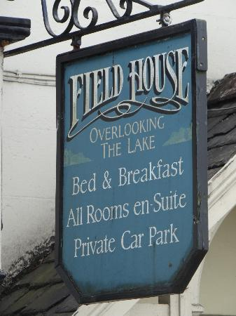 Field House Guest House Sign