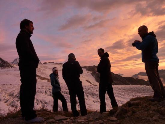 Kailash Adventure: Enjoying the beautiful sunset