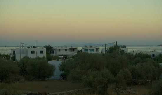 Edem Hotel: tramonto dalla terrazza del primo piano