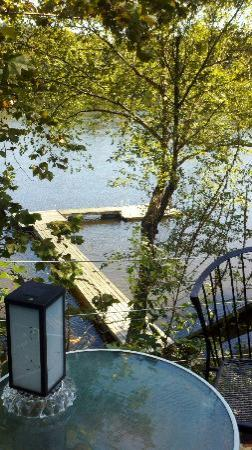 Bridgeton House on the Delaware: View of dock from sitting area