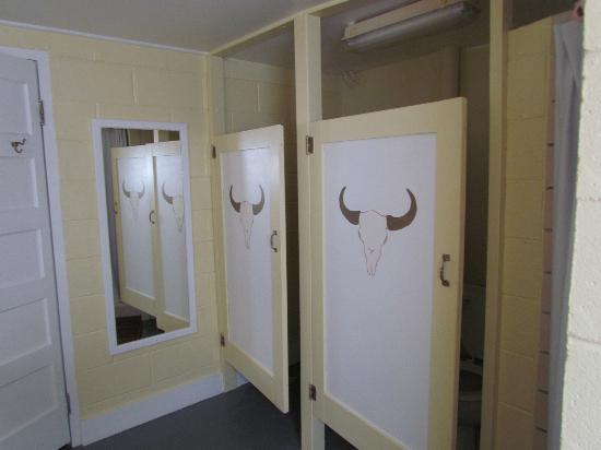 Terry Bison Ranch Resort: womens bathroom