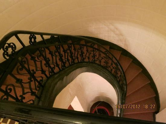 The stair case in Condesa Haus