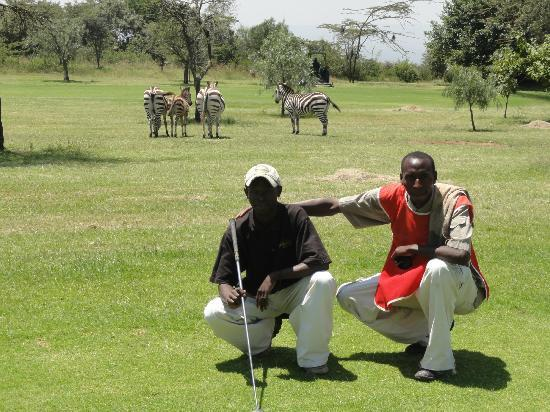 Great Rift Valley Lodge & Golf Resort: playing golf with the locals!