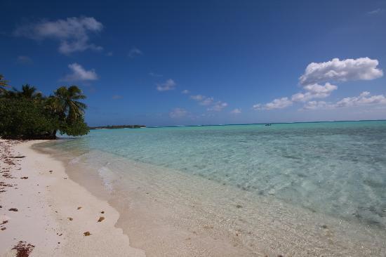 Maupiti Island, Polinesia Francesa: Plage du motu