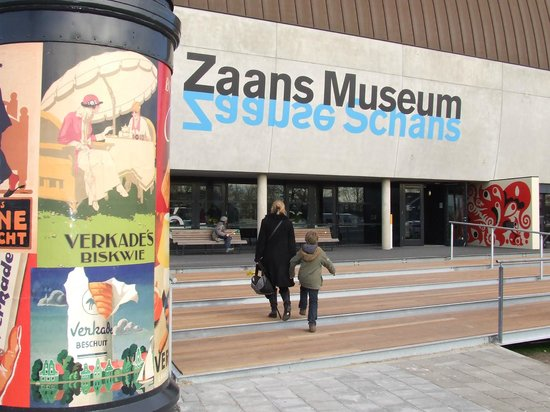 Zaandam, Holandia: De entree van het Zaans Museum en Verkade Paviljoen