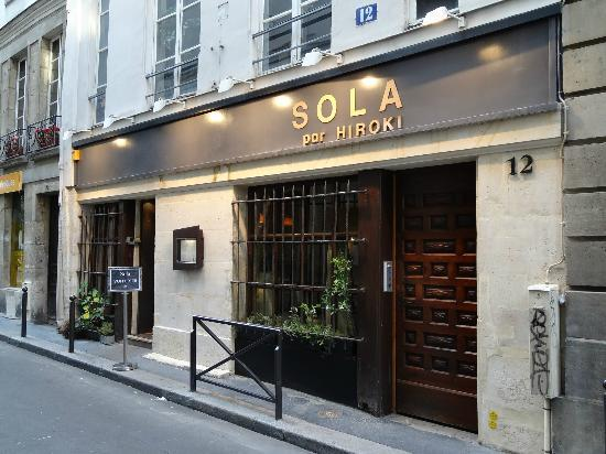 restaurant sola photo de sola paris tripadvisor. Black Bedroom Furniture Sets. Home Design Ideas