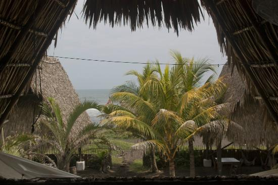 Paredon Surf House: view from the dorm
