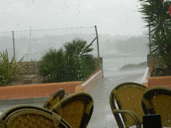 Our refuge on a very wet morning - Bar Dona Ana