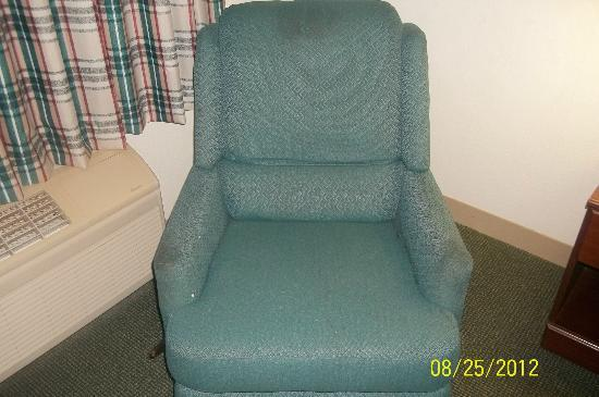 Extended Stay America - Portland - Scarborough: Stained reclining chair