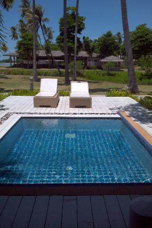 Shiva Samui: View of our private pool