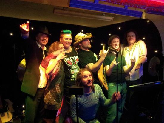 Cravings Rock Cafe : Band Rough Necks, inc Kay and the owners.