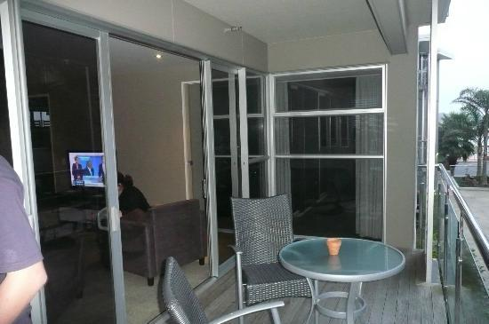 Ramada Suites Paihia: on the balcony