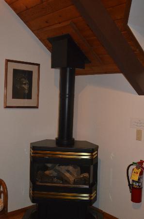 Kilauea Lodge: fireplace