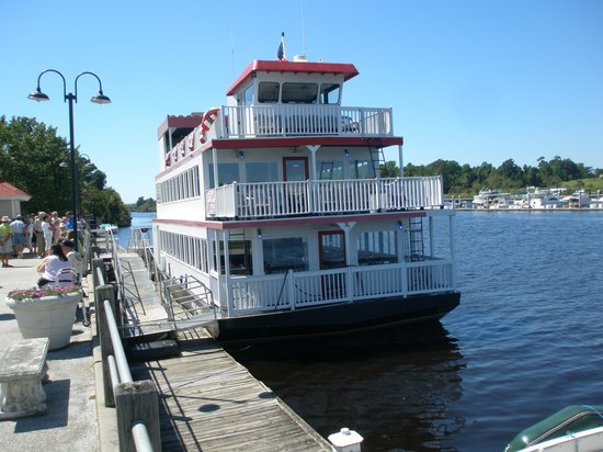 Barefoot Princess Riverboat Boat From Front At Dock