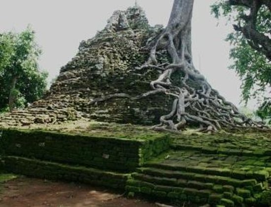 Nganjuk, Indonesien: The remains of the temple