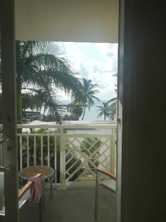 The Reach, A Waldorf Astoria Resort: looking out our sliding glass door