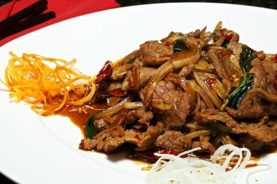 Taroko Pan-Pacific Bistro: Mongolia Beef for those that love spice!