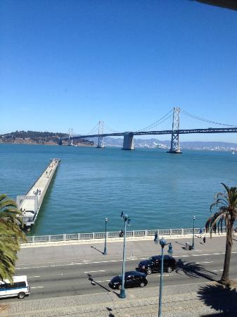 Hotel Griffon: View of Bay Bridge from room 506
