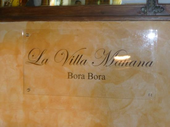 La Villa Mahana: Entrance
