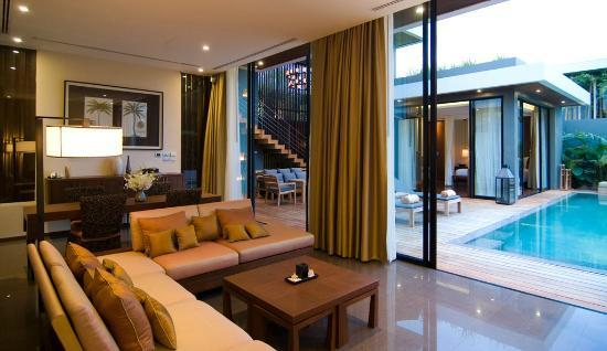 V Villas Hua Hin, MGallery by Sofitel: Living area
