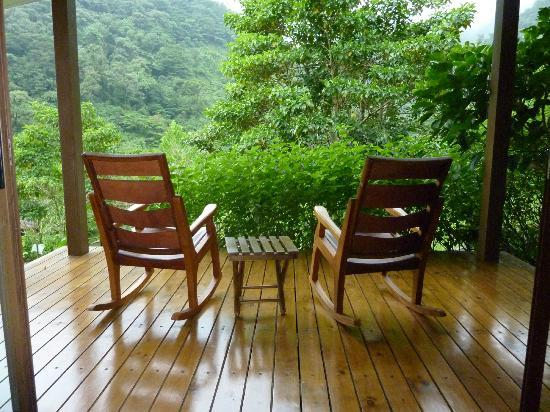 El Silencio Lodge & Spa: private balcony overlooking the rainforest