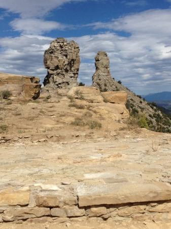 Chimney Rock, Колорадо: A view from the top.