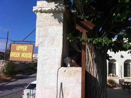 Sign to Upper Greek House