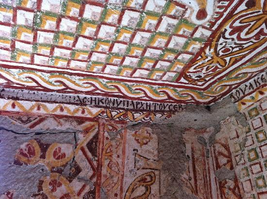 Upper Greek House: Frescoes in St Basil cave church - Gomeda Valley