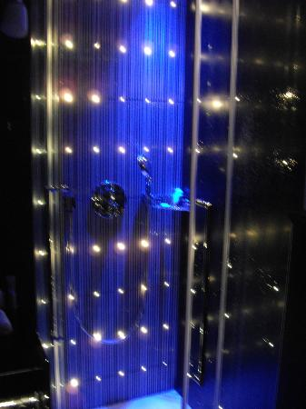 Platine Hotel: The grooviest shower we ever did see...