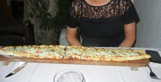 3 Cheers Restaurant : The biggest pide I've ever seen...