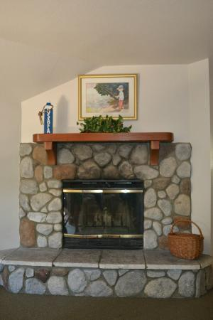 The North Shore Inn: Beautiful fireplace in the room