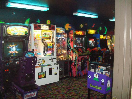 Comfort Inn: A big arcade! This place brings out the kid in me...oh yeah they have cookie time too! Love it