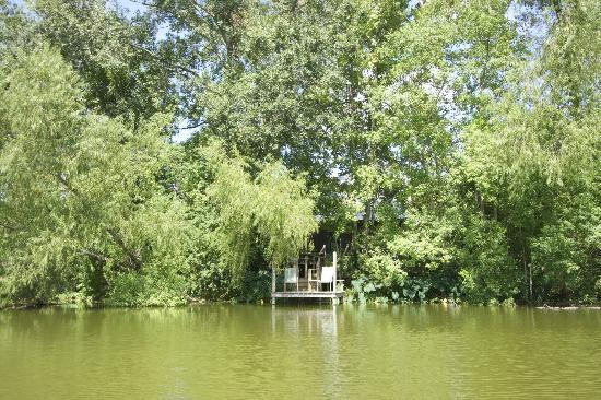 Cajun Country Cottages Bed and Breakfast: View of Little Cypress from the lake