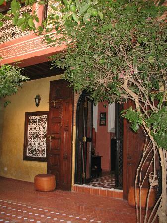 Riad Samsli : Un coin du patio