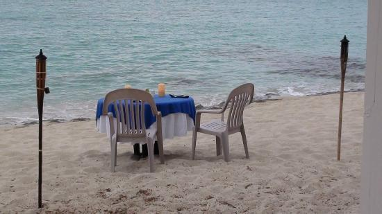 Sand Castle on the Beach: A romantic dinner on the beach for two.