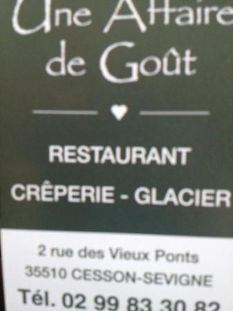 Une Affaire de Gout : une affaire de goût