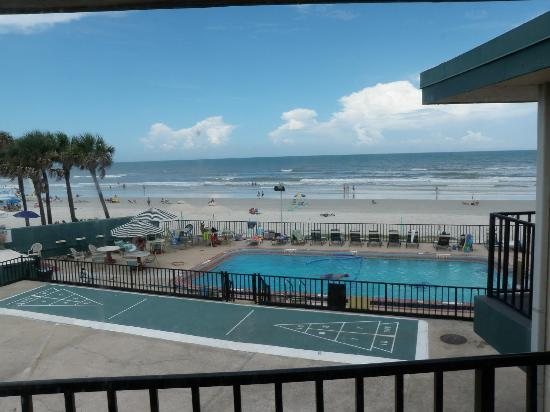 View from the Grand Prix Motel, Daytona Beach, FL