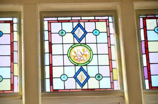 Russell Hotel: One of the part stained glass