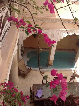 Riad Lorsya: riad main area & pool